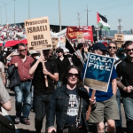 In August 2014, more than 1,000 people took part in a direct action that prevented an Israeli boat from docking at the port in Oakland, California