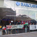 Groups across the UK occupied and held protests at Barclays banks as part of the campaign