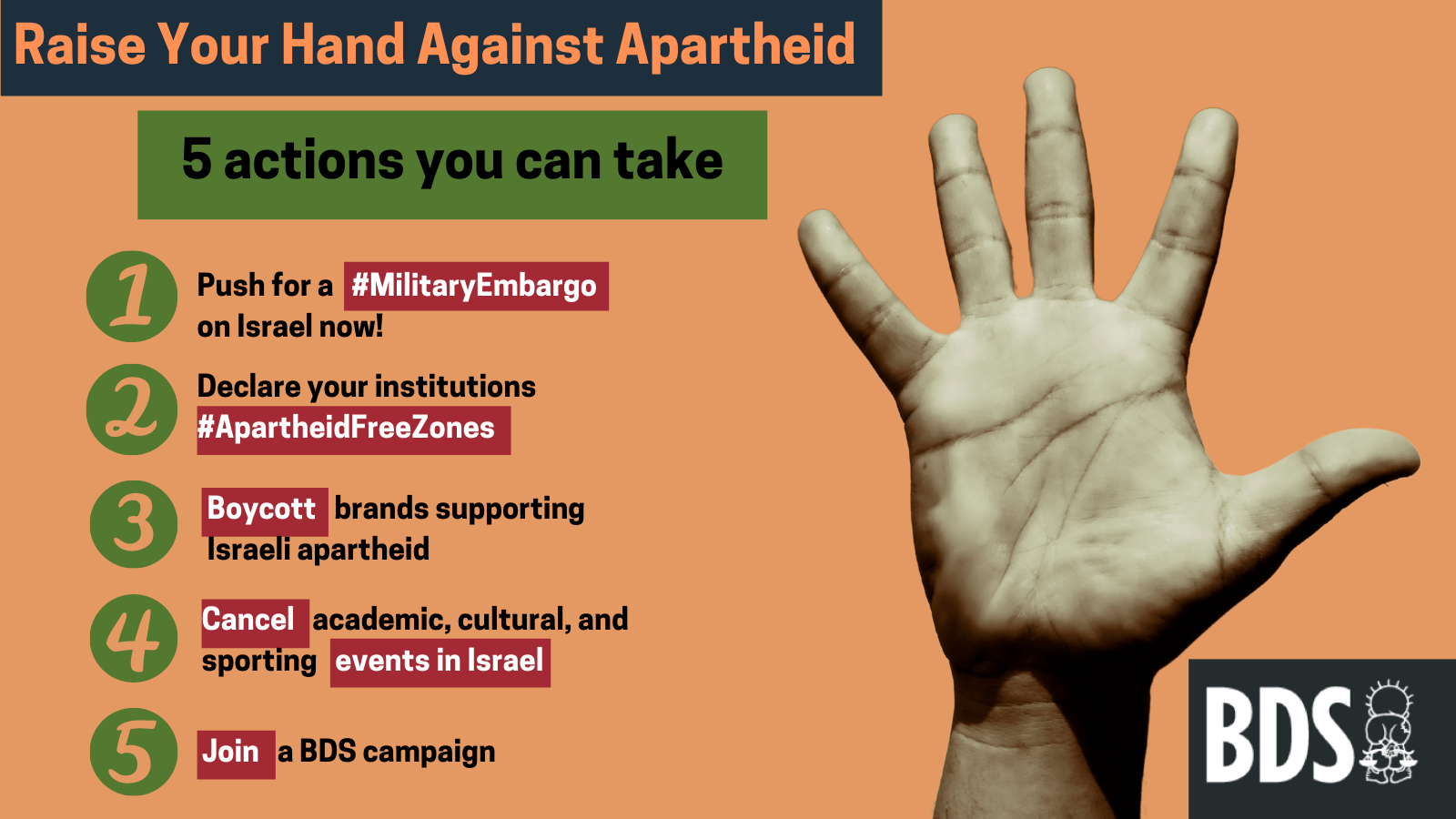 Outraged at apartheid Israel's crimes against Palestinians? Here are 5 things you can do.