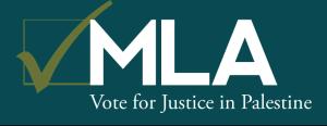 MLA: Vote For Justice in Palestine