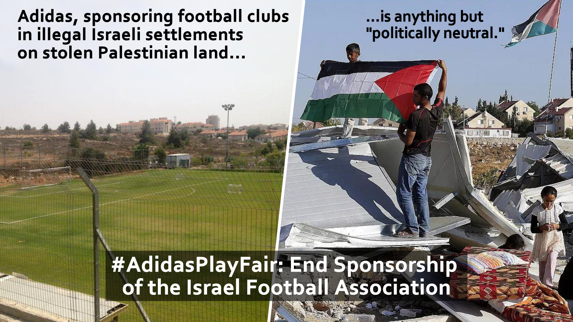 2bc6f642bb Palestinians Reply to Adidas  Follow Your Own Advice