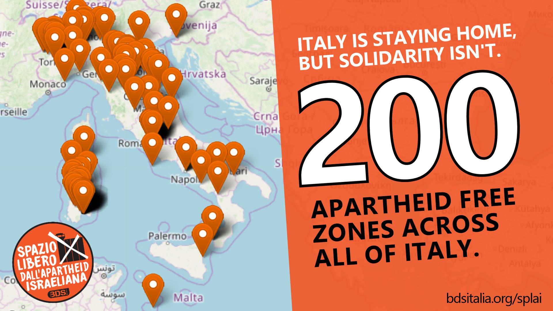 200 Apartheid Free Zones in Italy