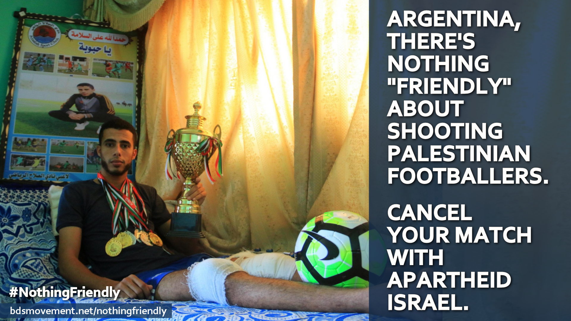 Tell Argentina: There's nothing friendly about Israel shooting Palestinian footballers