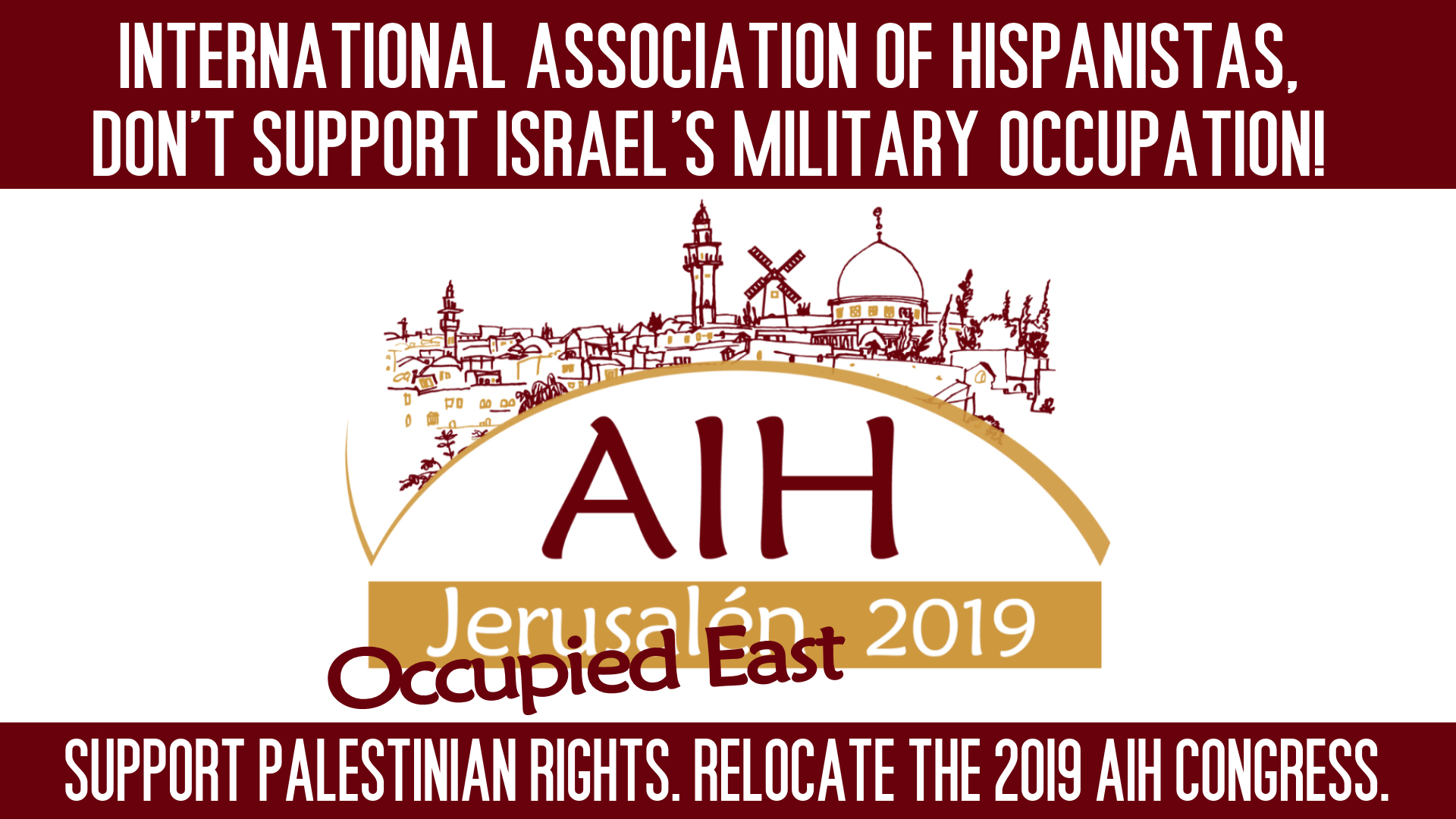 Palestinian Professors' Unions Urge International Hispanistas Association to Move Congress From Hebrew University