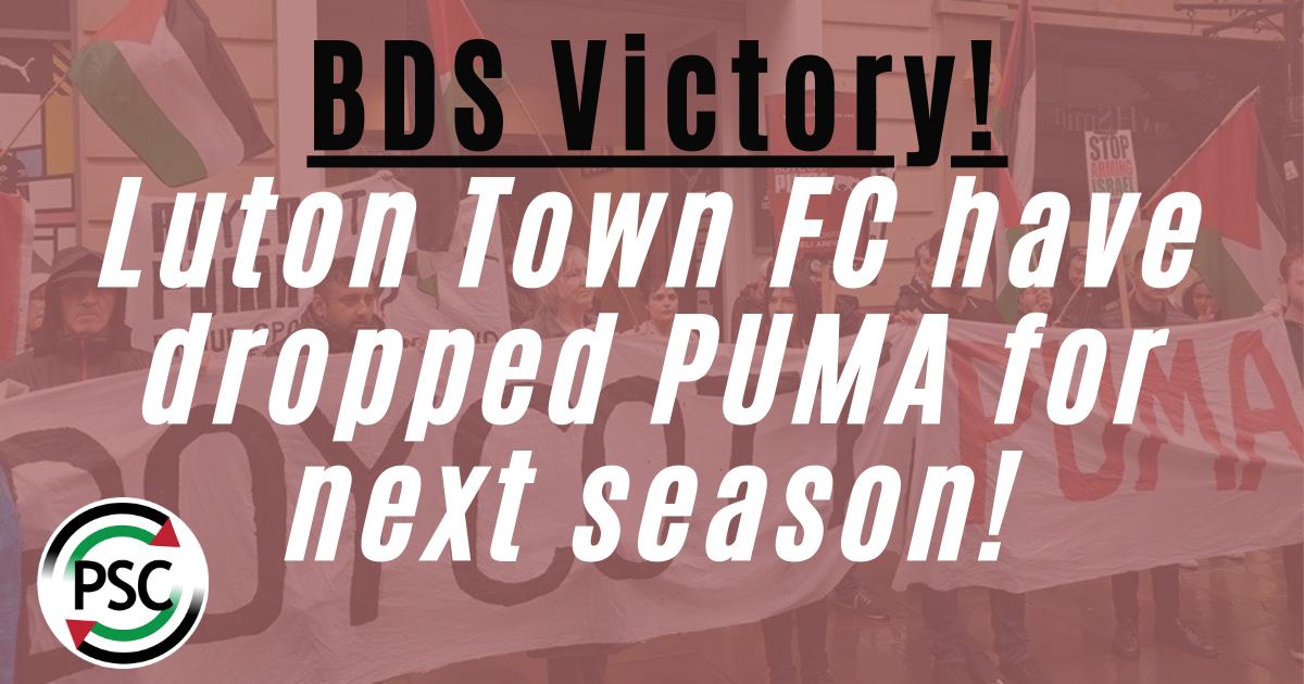 Luton Town kicks out Israeli occupation sponsor Puma