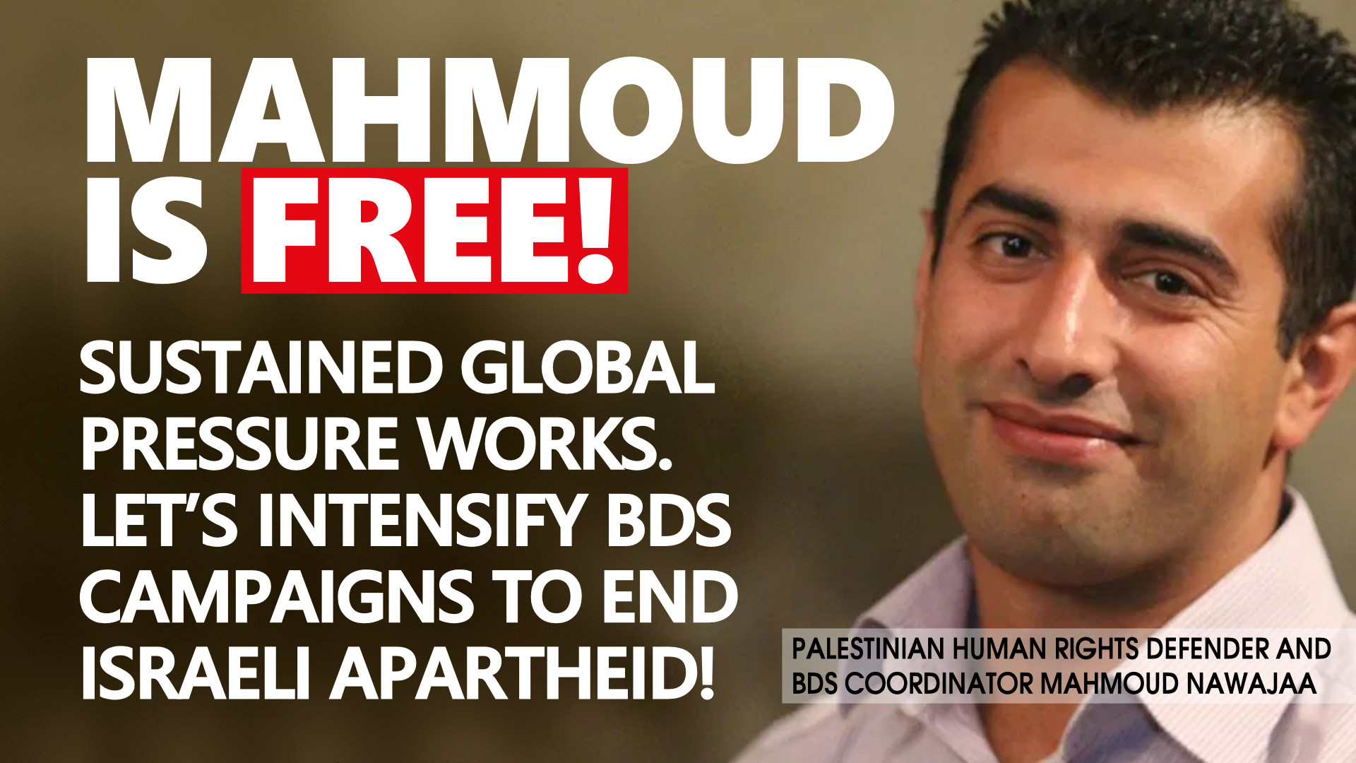 Mahmoud Nawajaa is free