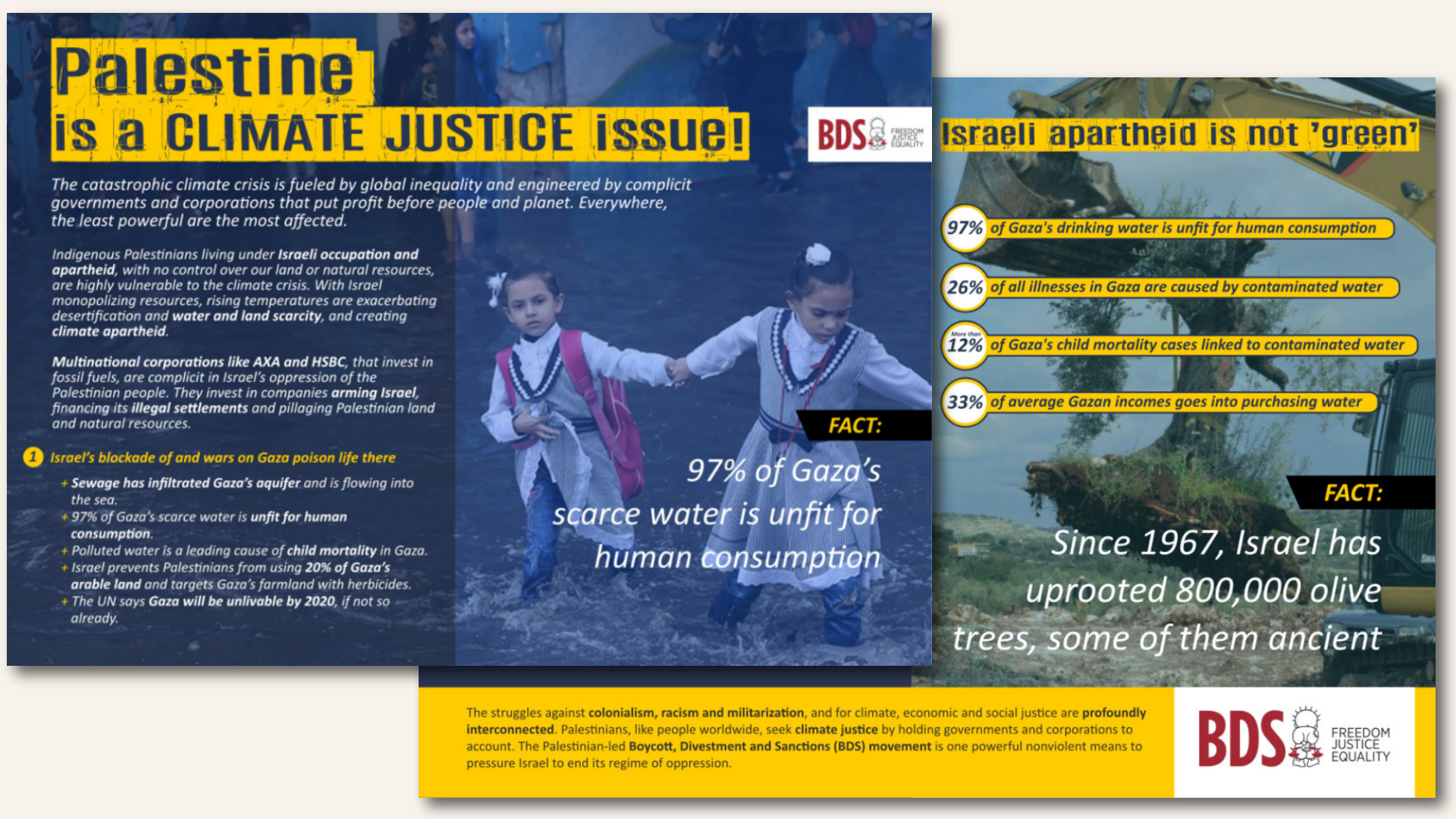 """Palestine is a climate justice issue - Israeli apartheid is not """"green"""""""