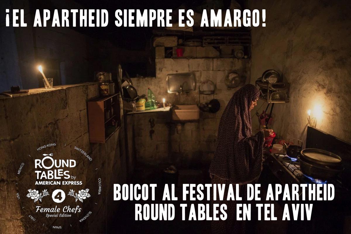 Boicot al festival de apartheid Round Tables en Tel Aviv