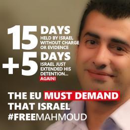 Help #FreeMahmoud: Israel extended his detention…again