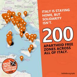 200 Apartheid Free Zones in Italy