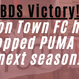 Luton Town kicks out Israeli occupation sponsor Puma