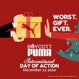 Puma, sponsor of Israeli apartheid: Worst. Gift. Ever.