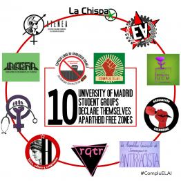 Ten Student Groups From University of Madrid Declare Themselves Apartheid Free Zones