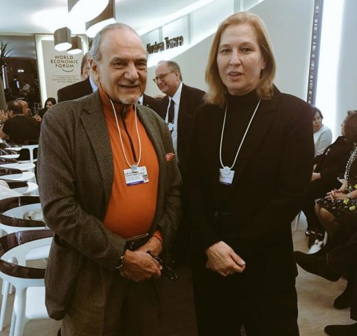 Former Israeli foreign minister Tzipi Livni and Saudi Prince Turki Al Faisal