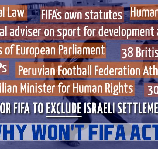 Juan Carlo Oblitas on the need to expel Israeli settlement clubs from FIFA