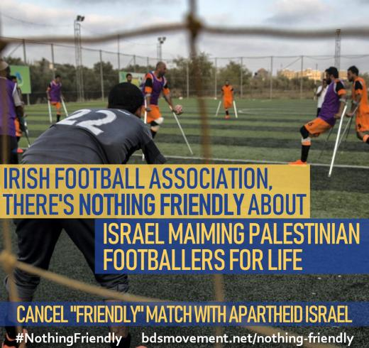 47c457bf8e Palestinians Urge Irish Football Association to Cancel
