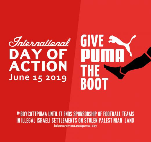 898f13ac30 Give Puma the Boot   BoycottPuma International Day of Action 15 June 2019
