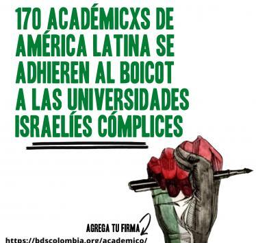 170 académicxs de América Latina se adhieren al boicot académico a Israel