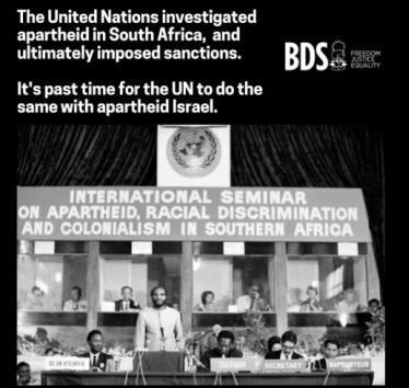 Urge the UN to investigate Israeli Apartheid
