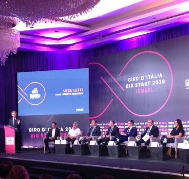 Giro d'Italia press conference in Jerusalem