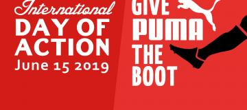 Give Puma the Boot: #BoycottPuma International Day of Action 15 June 2019