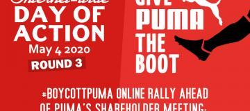 #Boycottpuma Round 3: Online Rally of Solidarity With Palestinians Ahead of PUMA Shareholders Meeting!