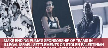 Tell Puma: #Reform must include ending support for Israel's illegal land grabs
