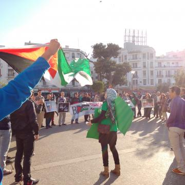 Demonstration for palestina utanfor ud
