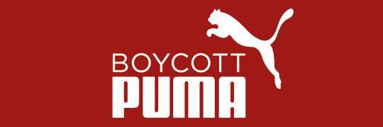 Boycott Puma - Sponsor of Israeli apartheid