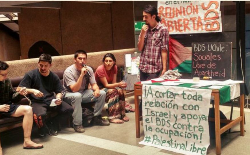 Students at the University of Chile call for an end to ties with Israeli academic institutions